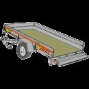 Släpvagn med tipp, totalvikt 900 kg, bromsad