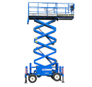 Saxlift, 8,28 m plattformshöjd, självgående, diesel