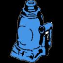 Domkraft, hydraulisk 2 - 20 ton